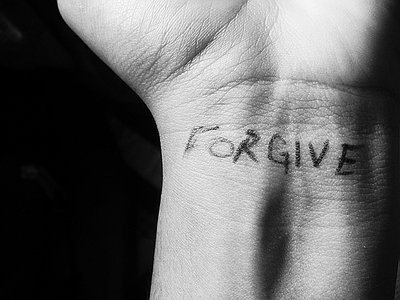Christian Forgiveness Black and White Illustrations