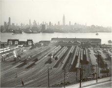 The Weehawken terminal near where Braddock sometimes worked
