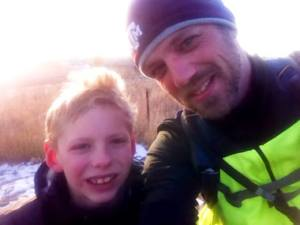 Me and my son riding the Highline Canal trail