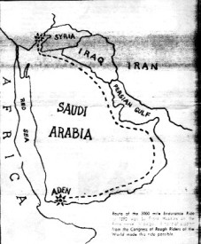 Amaral invented map showing the route of the phony race