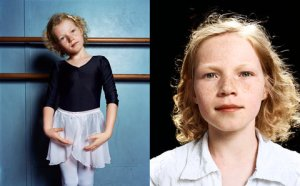 Left: Dionne, 7, in 2006. Right: Dionne, 10, in 2009