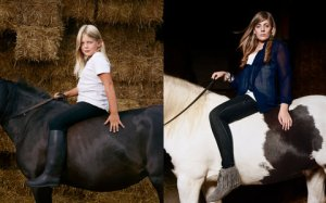 Left: Jasmijn, 9, in 2003. Right: Jasmijn, 17, in 2010
