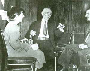 Tesla during an interview at the Hotel New Yorker, 1935