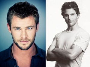 Played by Chris Hemsworth or James Marsden (left to right)
