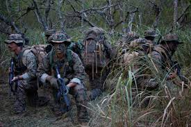 Marines from 4th Force Recon conducting training