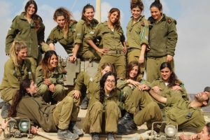 Female tank instructors of the Israel Defense Forces (IDF) School of Infantry Professions