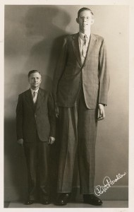 "Robert Wadlow of Alton, IL is the tallest known human to have been accurately measured. He was 8'11"" before he died at 22 years old from an infected foot"